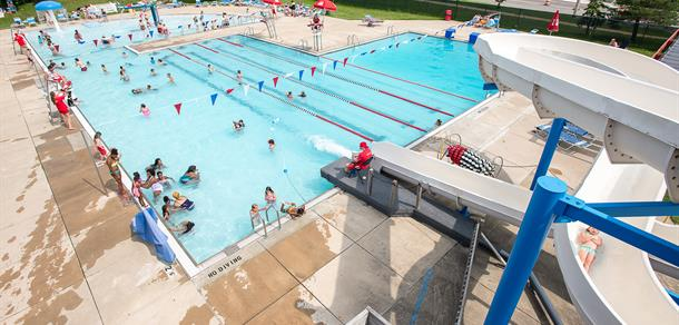 Veterans Memorial Outdoor Pool is a great place to swim.