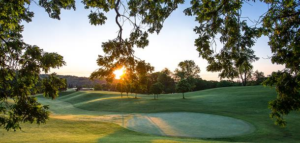 Huron Hills Golf Course at sunrise.