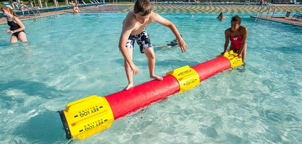 Try log rollin at Fuller Park Pool.