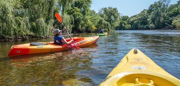 Kayaking the beautiful Huron River