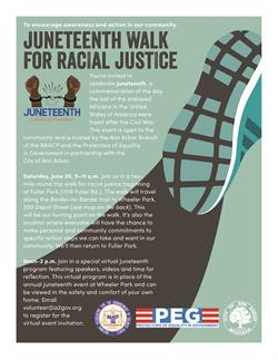 Juneteenth Celebration and Walk for Racial Justice Event is Saturday, June 20